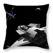 A Future Generation Space Shuttle Throw Pillow