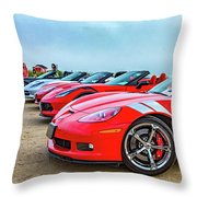 A Gaggle Of Vettes Throw Pillow