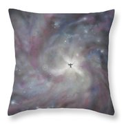 A Galaxy Centre Throw Pillow