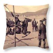 A Gander Pull 1894 Throw Pillow