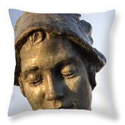 A Gansey Girl Portrait Throw Pillow