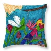 A Garden Adventure Throw Pillow