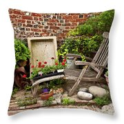 A Garden Corner Throw Pillow