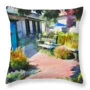 A Garden In Harmony Throw Pillow