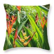 A Garden Paradise Throw Pillow