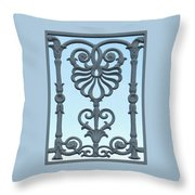 A Gate On Indian Canyon Drive Throw Pillow