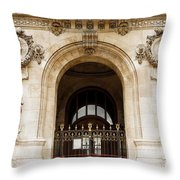 A Gate To The Opera  Throw Pillow