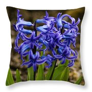 A Gathering Of Blues Throw Pillow
