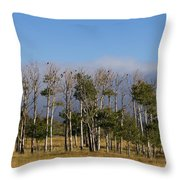 A Gathering Of Crows Throw Pillow