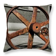 A Gear In A Gear Throw Pillow