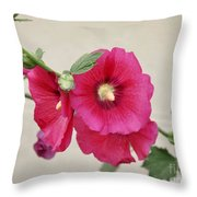 A Gentle Bloom Throw Pillow