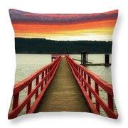 A Gentle Evening Throw Pillow