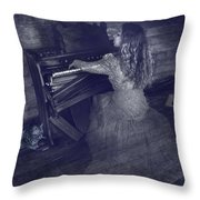 A Ghostly Tune Throw Pillow