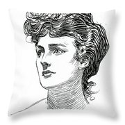 A Gibson Girl By Charles Dana Gibson Throw Pillow