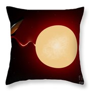 A Gigantic Ufo Venting Plasma Throw Pillow