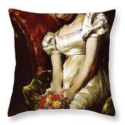 A Girl 1 Throw Pillow