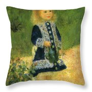A Girl With A Watering Can 1876 Throw Pillow