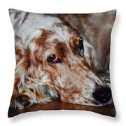 A Girl's Best Friend Throw Pillow