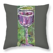 A Glass Of Vino Throw Pillow