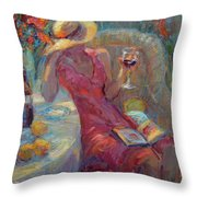 A Glass Of Red Throw Pillow