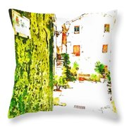 A Glimpse Of A House Framed By A Bow Throw Pillow