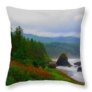 A Glimpse Of Oregon Throw Pillow