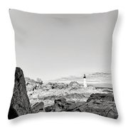 A Glimpse Of The Lighthouse Throw Pillow