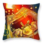 A Glimpse Through The Keyhole Throw Pillow