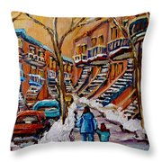 A Glorious Day Throw Pillow