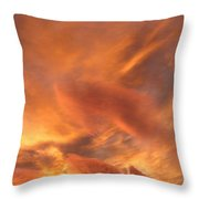 A Glorious Evening Sky Throw Pillow