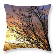 A Glorious Sky Throw Pillow