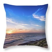 A Glorious Sunset At North Ponto, Carlsbad State Beach Throw Pillow