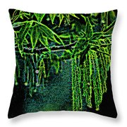 A Glow With Dew Throw Pillow