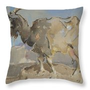A Goat By Joseph Crawhall 1861-1913 Throw Pillow