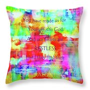 A God-shaped Hole Throw Pillow