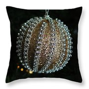 A Gold Orb- Horizontal Throw Pillow