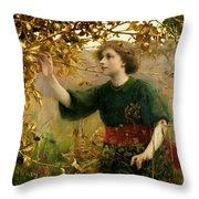 A Golden Dream Throw Pillow