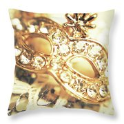 A Golden Occasion Throw Pillow