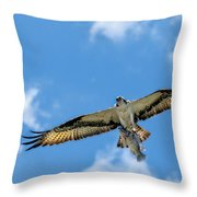 A Good Day Fishing Throw Pillow