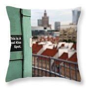 A Good Kiss Spot Throw Pillow