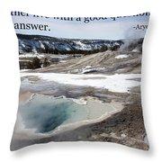 A Good Question Throw Pillow