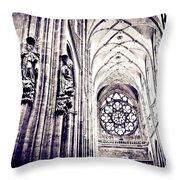 A Gothic Church Throw Pillow