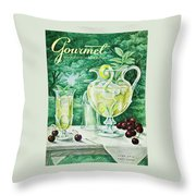 A Gourmet Cover Of Glassware Throw Pillow