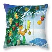 A Gourmet Cover Of Marzipan Fruit Throw Pillow