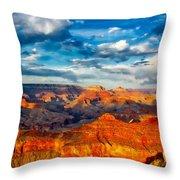 A Grand Canyon Sunset Throw Pillow