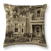 A Grand Victorian 3 - Sepia Throw Pillow