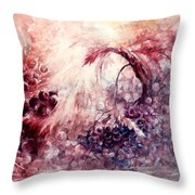 A Grape Fairy Tale Throw Pillow