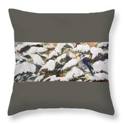 A Gray Jay Kind Of Day Throw Pillow