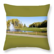 A Great Day For Golf Throw Pillow
