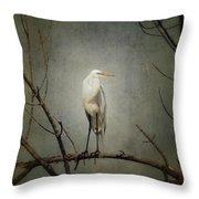 A Great Egret Throw Pillow
